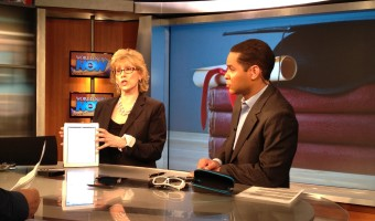 Taping Tech Segments at ABC TV, Here's a Pic from the Set